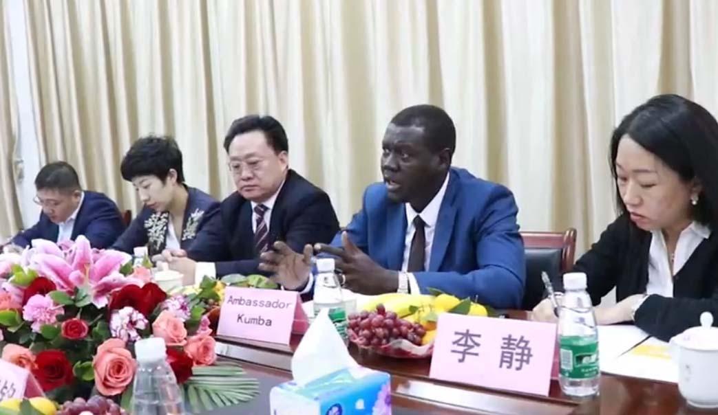 广州科升接待非洲国家的大使来访考察